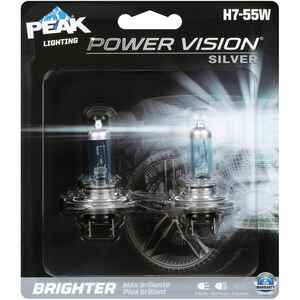 Peak  Power Vision Silver  Halogen  Automotive Bulb  H7-55W  2 pk