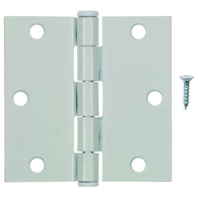 Ace  3-1/2 in. L White  Residential Door Hinge  1 pk