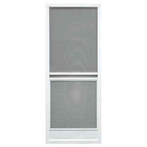 Precision  Capri Series  79-3/4 in. H x 32 in. W Capri  White  Aluminum  Screen Door