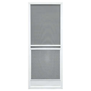 Superior  Capri Series  32 in. W x 79-3/4 in. H White  Aluminum  Screen Door  Capri