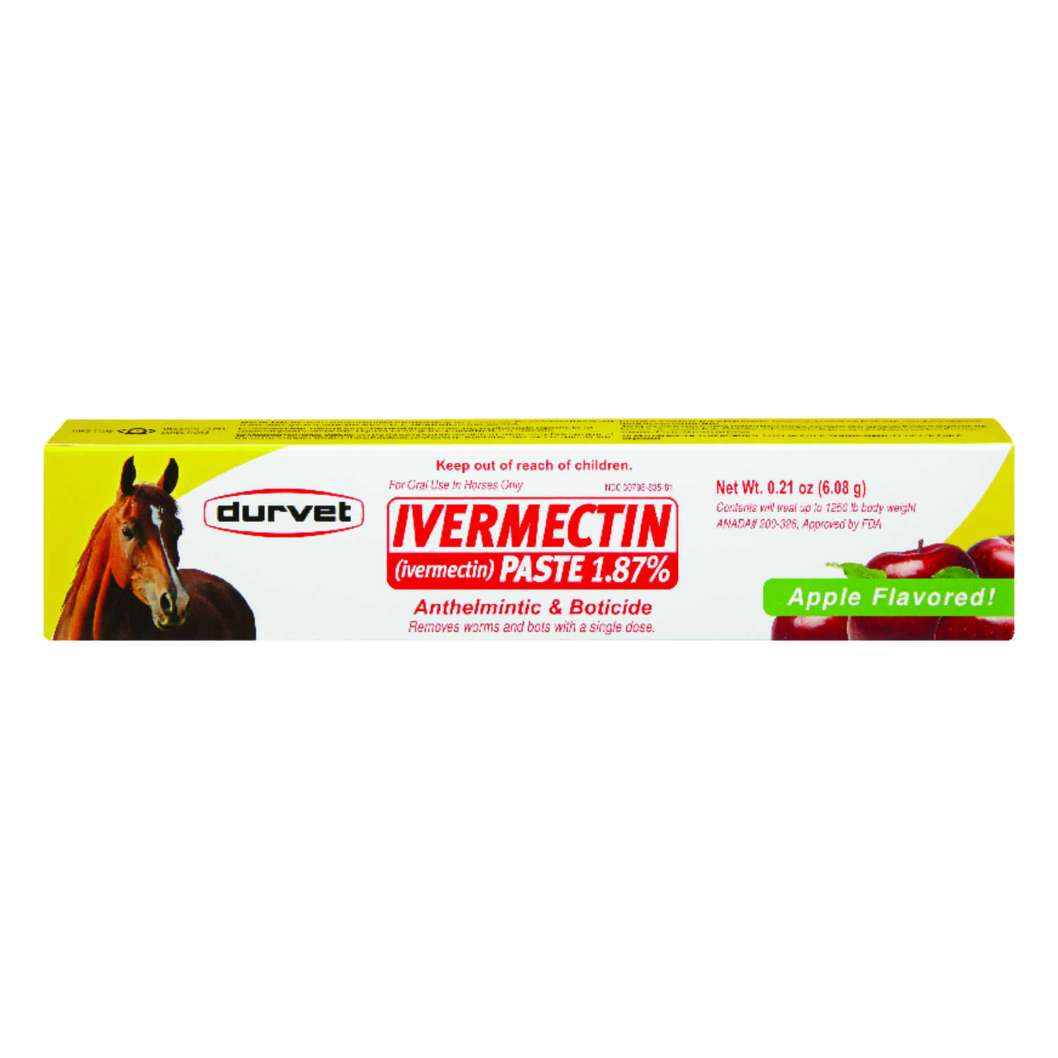 Ivermectin  Paste  De-Wormer  For Horse 0.21 oz.