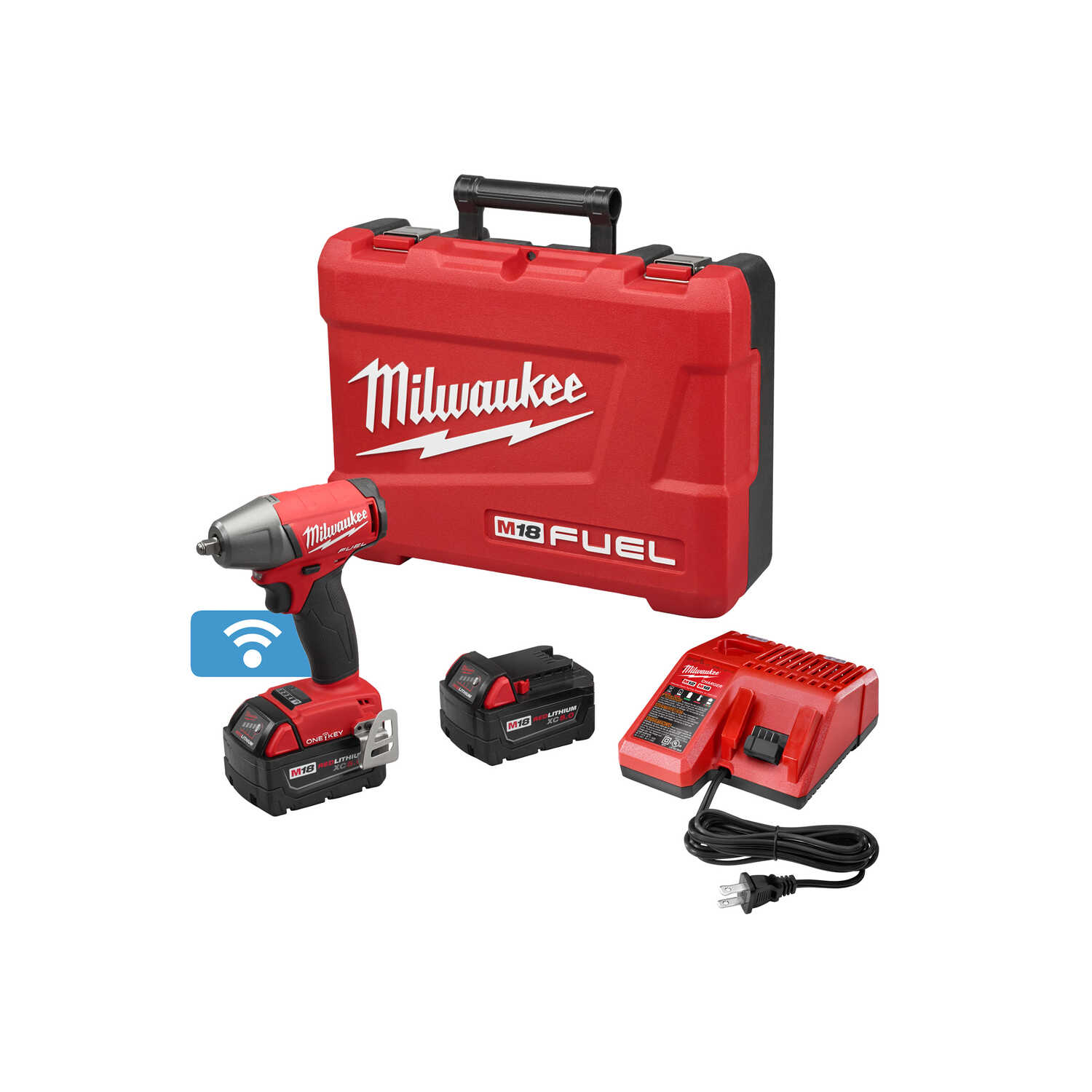 Milwaukee  M18 Fuel  3/8 in. Square  Cordless  Brushless Impact Wrench with Friction Ring  Kit 18 vo