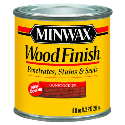 Minwax  Wood Finish  Semi-Transparent  Gunstock  Oil-Based  Wood Stain  0.5 pt.