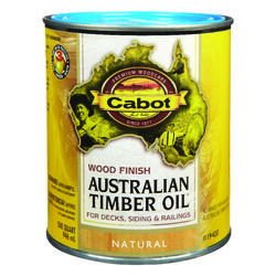 Cabot  Transparent  Natural  Oil-Based  Natural Oil/Waterborne Hybrid  Australian Timber Oil  1 qt.