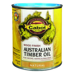 Cabot  Australian Timber Oil  Transparent  Natural  Natural Oil/Waterborne Hybrid  Australian Timber