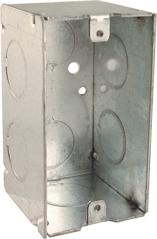 Raco  4 in. Steel  1 Gang  Gray  Junction Box  Rectangle