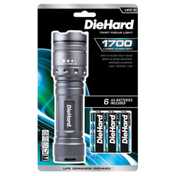 Dorcy  DieHard  1700 lumens Gray  LED  Flashlight  AA Battery