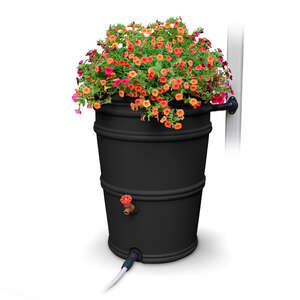 EarthMinded  45 gal. Rain Barrel  Polyethylene  Charcoal