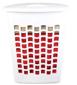 Rubbermaid  White  Plastic  Laundry Hamper