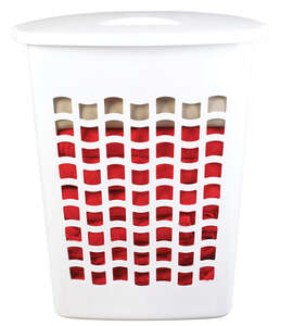 Rubbermaid Laundry Hamper 13.88 in. x 20.88 in. x 24.25 in. 2.2 bushel White