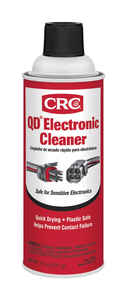 CRC QD Electronic Cleaner 11 oz. Removes oil, grease, flux, dirt Case Pk