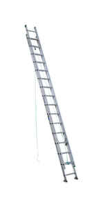 Werner  32 ft. H x 17.33 in. W Aluminum  Type II  225 lb. Extension Ladder