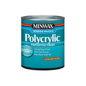 Minwax  Indoor  Clear  Semi-Gloss  1 qt. Polycrylic  Semi-Gloss