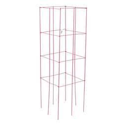 Panacea  46 in. H x 1 ft. W x 12 in. D Red  Steel  Tomato Cage