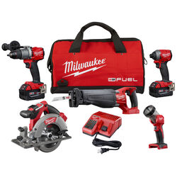 Milwaukee  M18 Fuel  18 volt 5 amps Cordless  Brushless  5 tool Combo Kit