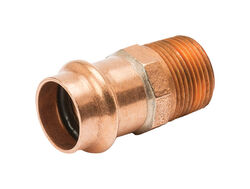 Mueller Streamline Streamline 1/2 in. Press x 1/2 in. Dia. Male Copper Adapter
