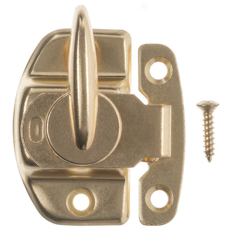 Ace  Bright Brass  Brass  Draw Tight Sash Lock  1 pk