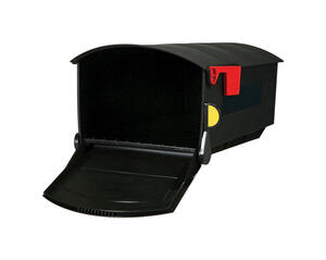 Gibraltar  Gibraltar  Roughneck  Plastic  Post Mounted  Black  Mailbox  9-1/2 in. H x 11-3/4 in. W x