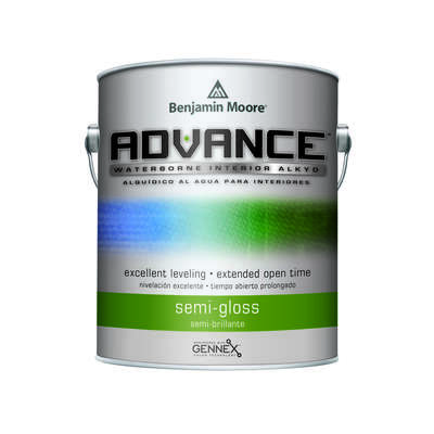 Benjamin Moore  Advance  Semi-Gloss  Base 2  Alkyd/Styrene Acrylate  Paint  Interior  1 qt.