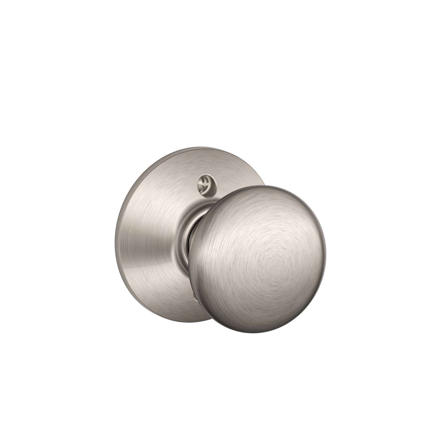 Schlage  Modern/Contemporary  Satin Nickel  Brass  Dummy Knob  2  Right or Left Handed