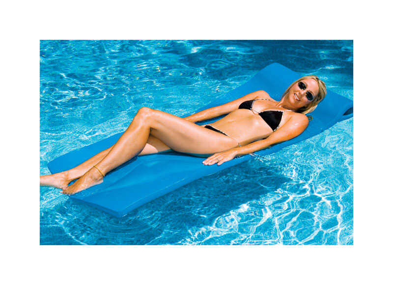 Swimline  Blue  Foam  Mattress  Floating Pool Mat