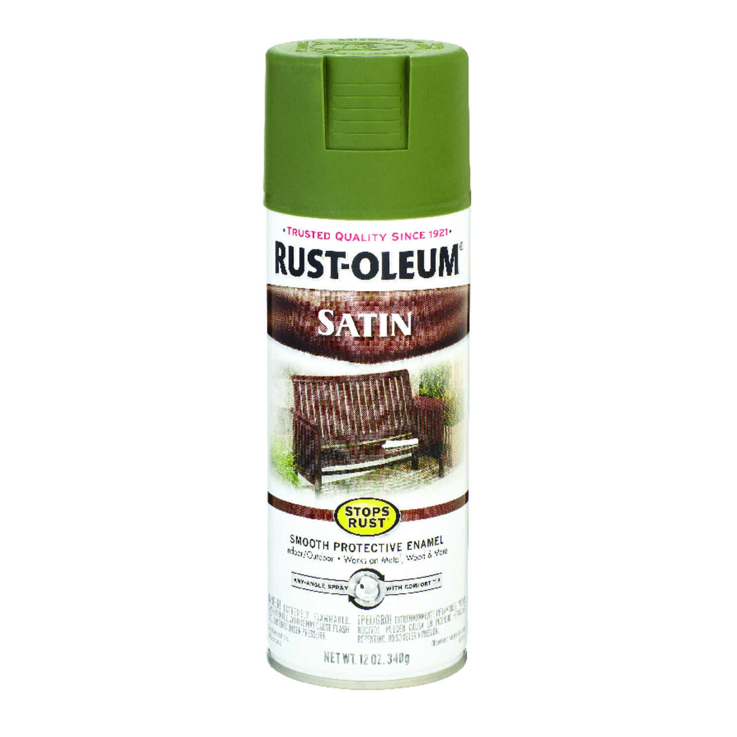 Rust-Oleum  Stops Rust  Satin  Sage  12 oz. Spray Paint