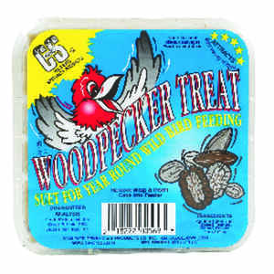 C&S Products  Woodpecker Treat  Assorted Species  Wild Bird Food  Beef Suet  11 oz.