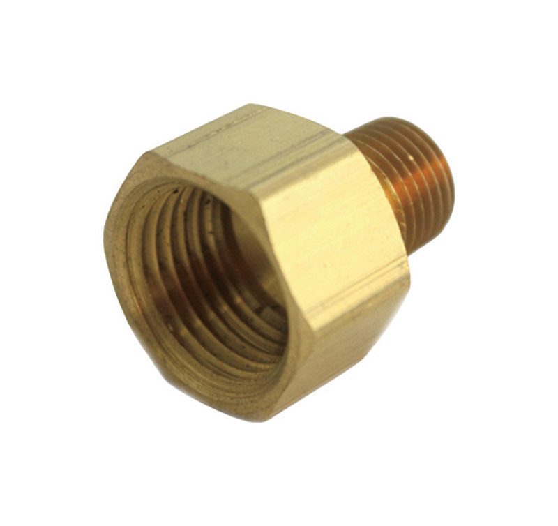 JMF  3/4 in. Dia. x 1/2 in. Dia. FPT To MPT  Yellow Brass  Reducing Coupling