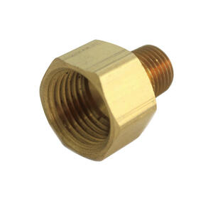 JMF  3/4 in. FPT   x 1/2 in. Dia. MPT  Yellow Brass  Reducing Coupling