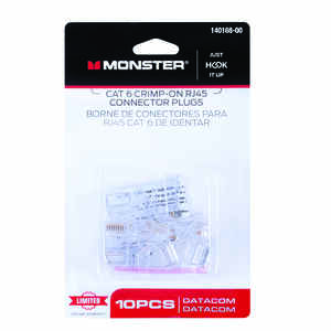 Monster Cable  Just Hook It Up  RJ-45 Modular Plugs  10 pk