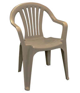 Adams  Brown  Polypropylene  Stackable  Chair