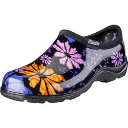 Sloggers  Flower Power  Women's  Garden/Rain Shoes  10 US  Black