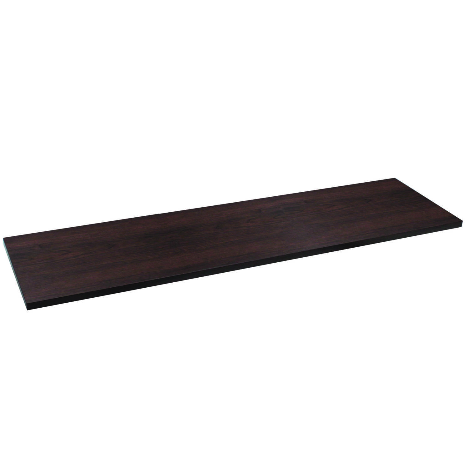 Knape & Vogt  8 in. W x 5/8 in. H x 48 in. D Espresso  Particle Board  Shelf