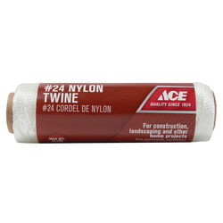 Ace 24 in. Dia. x 185 ft. L White Twisted Nylon Mason Line