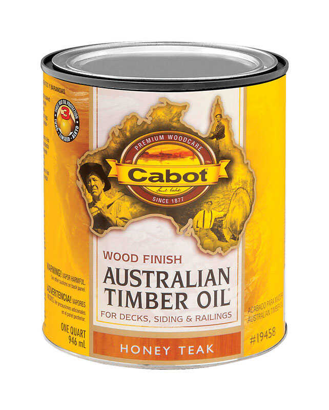 Cabot  Transparent  Honey Teak  Oil-Based  Natural Oil/Waterborne Hybrid  Australian Timber Oil  1 q