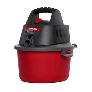 Craftsman  2.5 gal. Corded  Wet/Dry Vacuum  1.75 hp 4 amps 120 volt Red  7.9 lb.