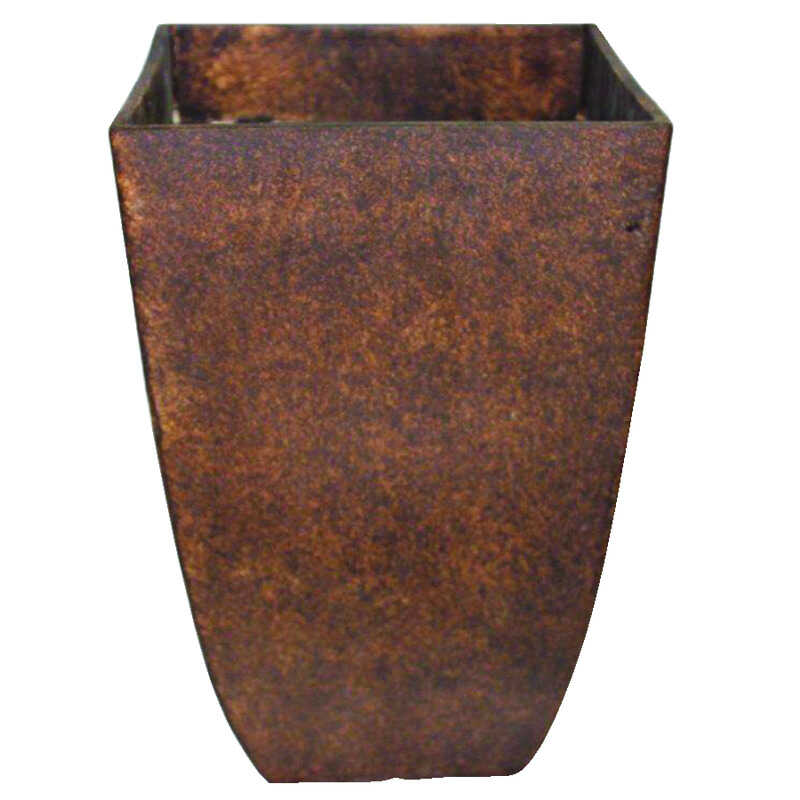 Southern Patio  10.5 in. W Brown  Resin  Umber  Planter