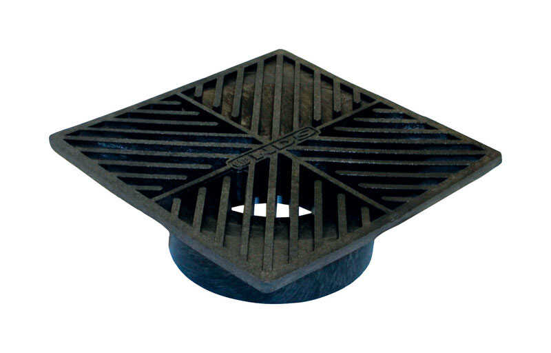 NDS  6 in. Black  Polyolefin  Square  Grate