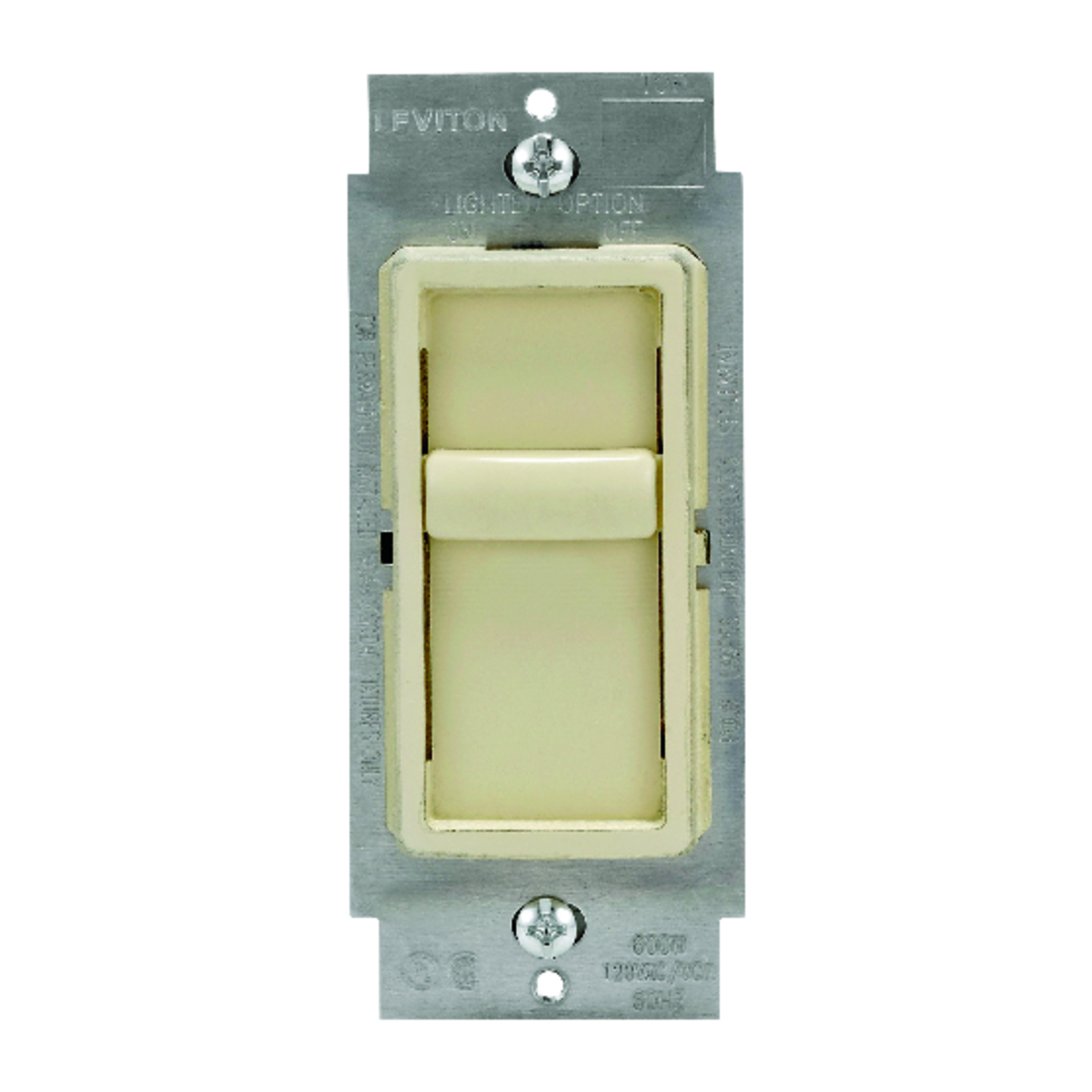 Leviton  SureSlide  Ivory  150 watts Slide  Dimmer Switch  1