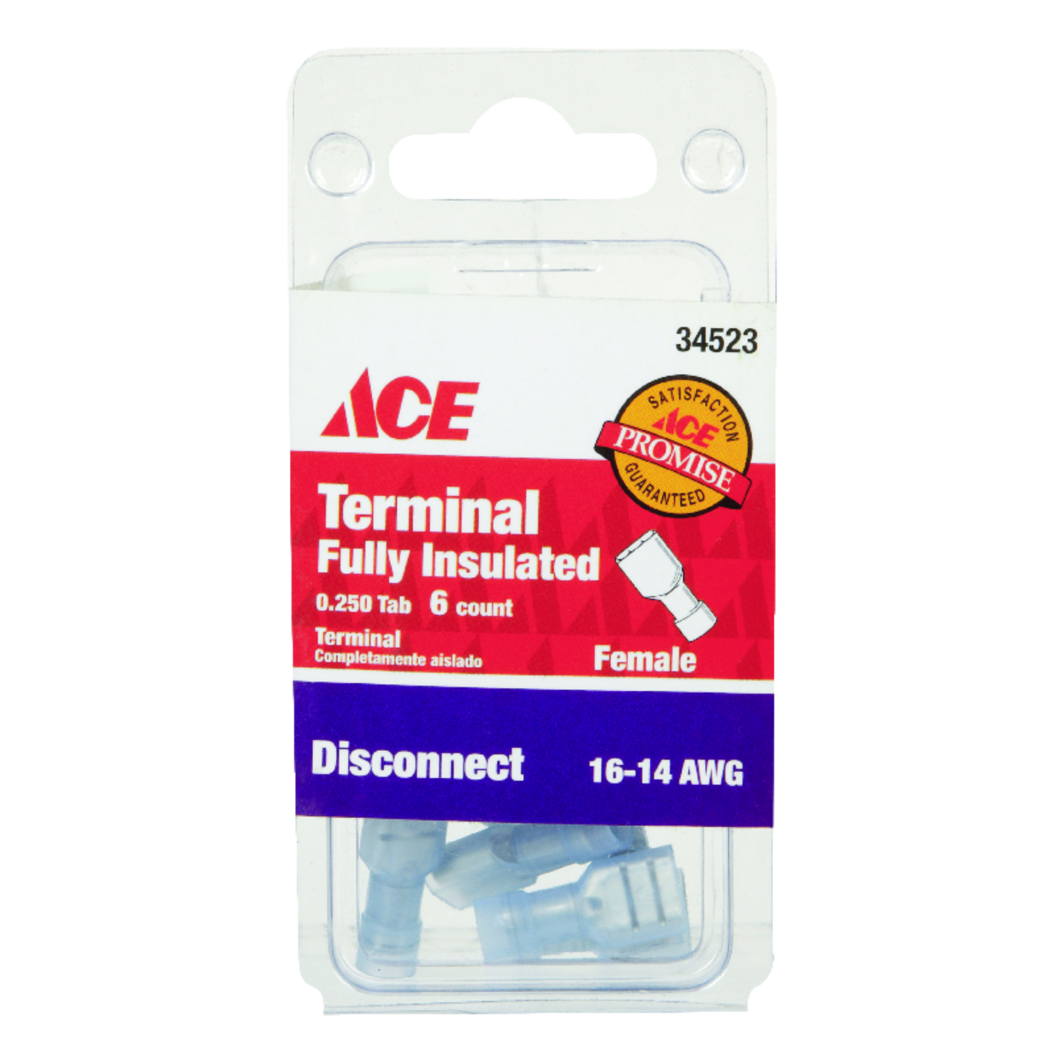 Ace  Insulated Wire  Female Disconnect  6  16-14 AWG