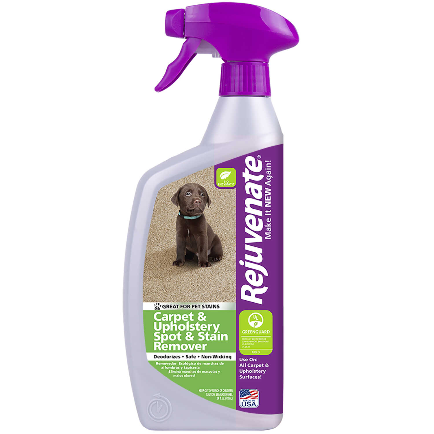 Rejuvenate  No Scent Carpet and Upholstery Cleaner  24 oz. Liquid