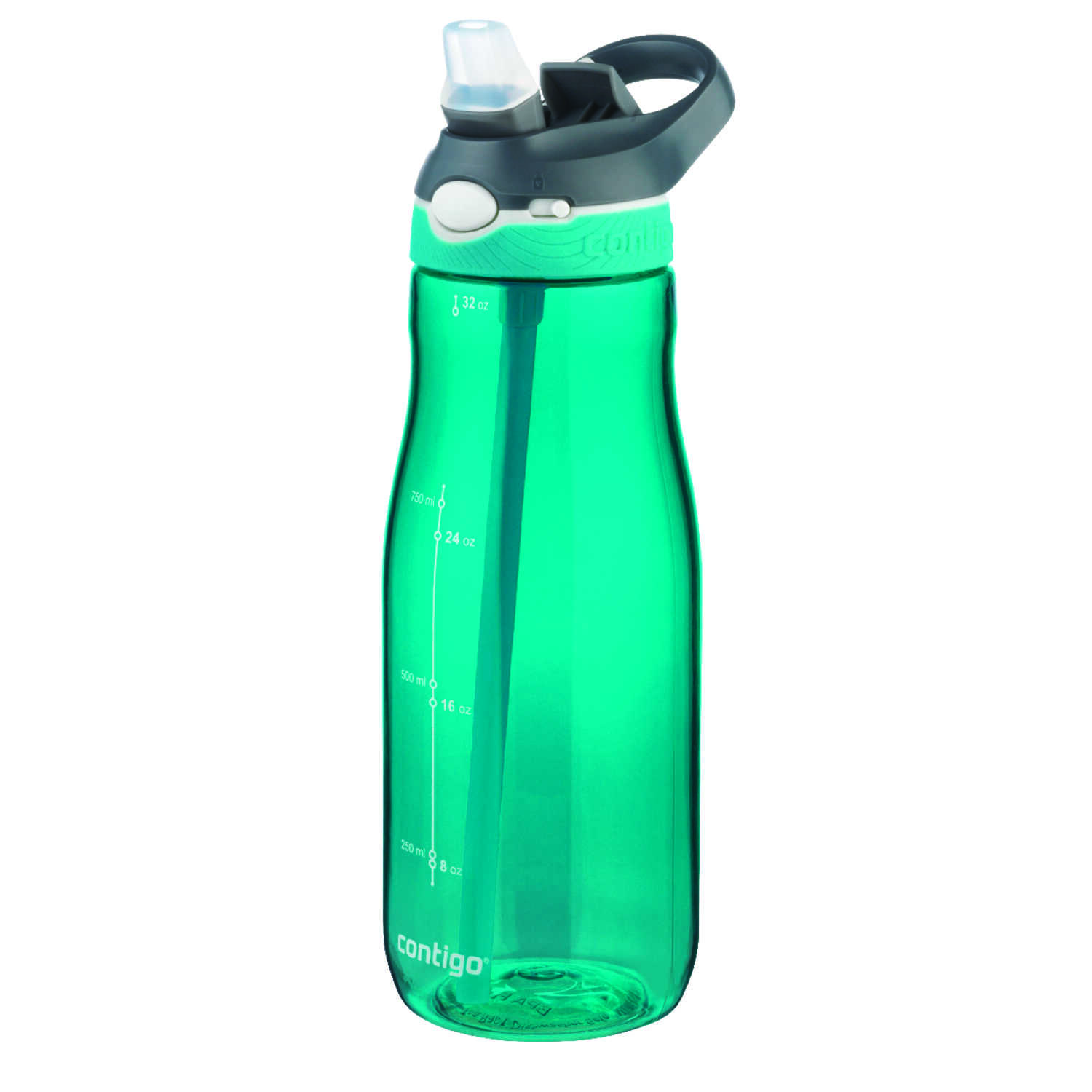 Contigo  Blue/Green  Plastic  Ashland Autospout  Water Bottle  BPA Free 32 oz.