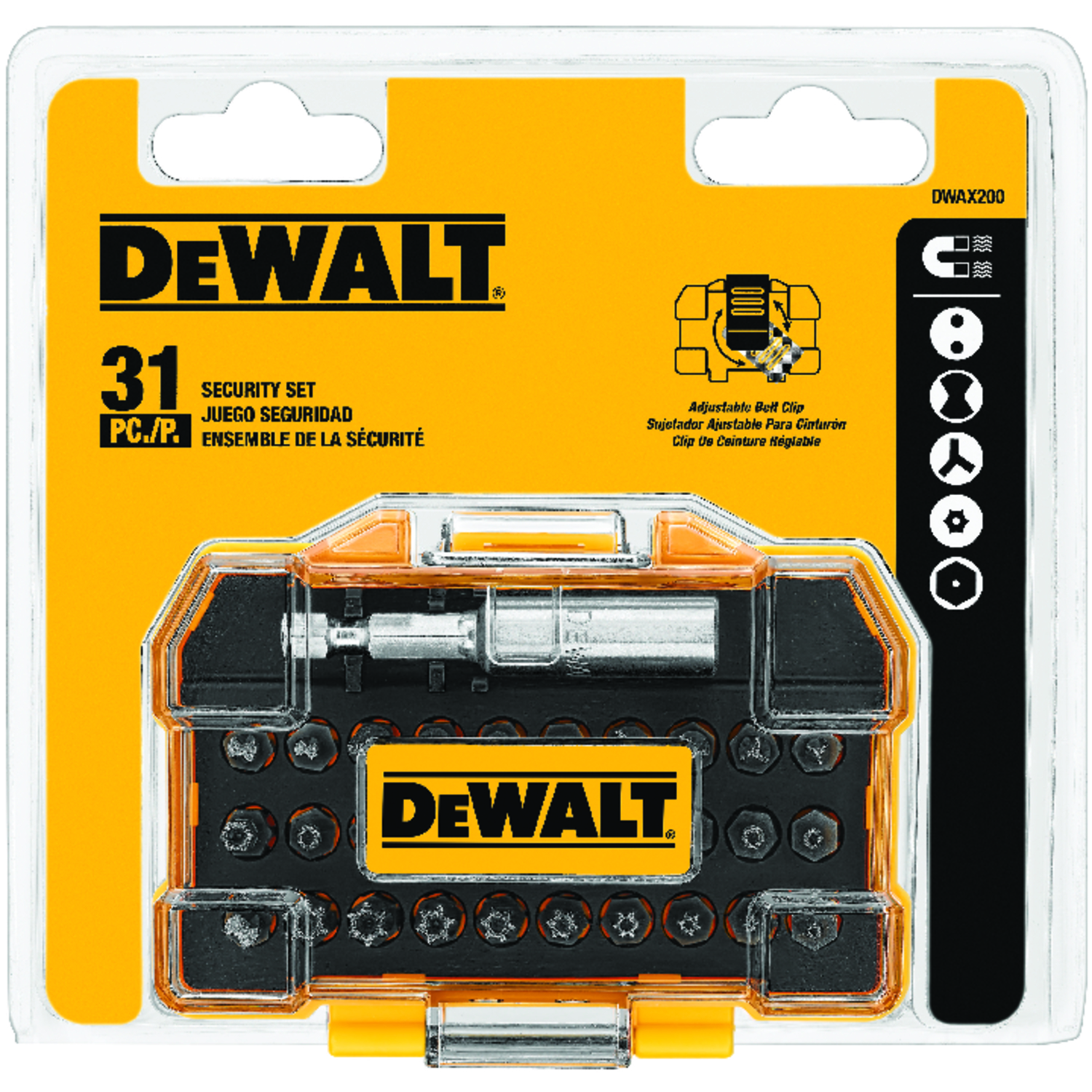 DeWalt  Security  Multi Size in.  1/4 in. Screwdriver Bit  31 pc.