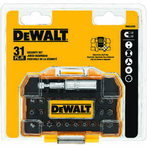 DeWalt  Security  Multi Size in.  Screwdriver Bit  1/4 in. 31 pc.