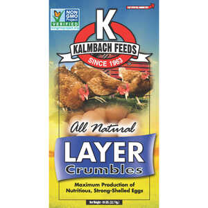 Kalmbach Feeds  Layer Feed  Crumble  For Chickens 50 lb.