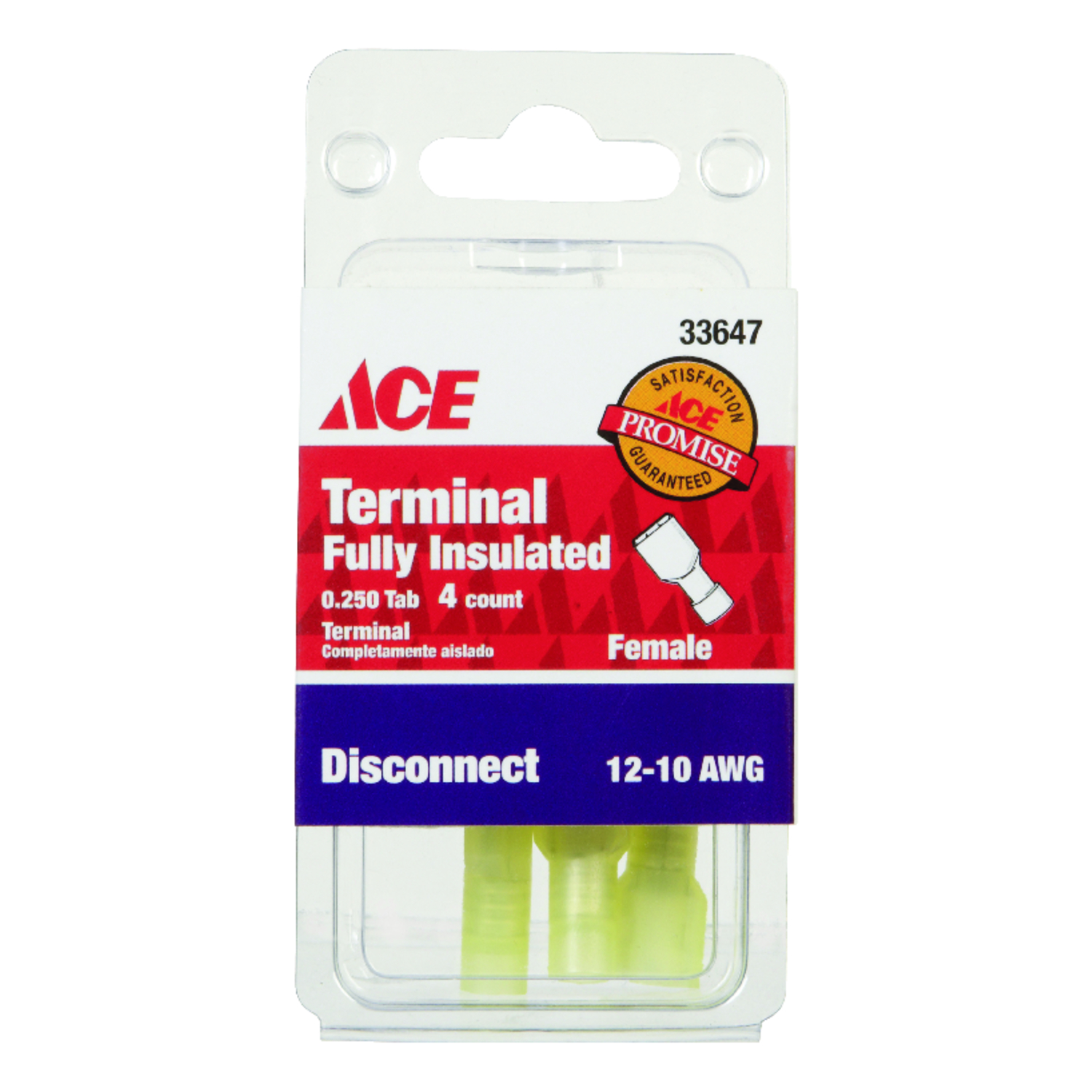 Ace  Insulated Wire  Female Disconnect  4  12-10 AWG