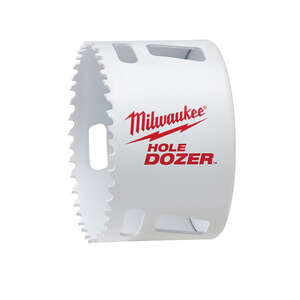 Milwaukee  Hole Dozer  3-1/2 in. Dia. x 1-7/8 in. L Bi-Metal  Hole Saw  1/4 in. 1 pc.