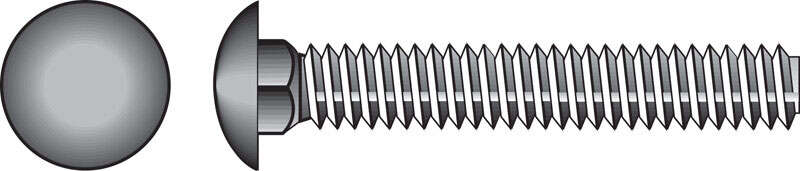 Hillman  5/16 in. Dia. x 2-1/2 in. L Hot Dipped Galvanized  Steel  Carriage Bolt  100 pk