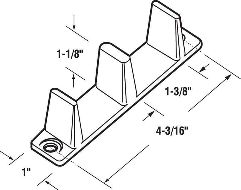 Prime-Line  White  Nylon  Floor mount Door Guide  1 pk