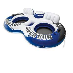 Intex  River Run  Blue/White  Plastic  Inflatable Float for Two